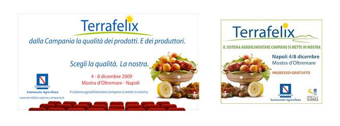 Segnaletica e Stampe evento Terra Felix – la Mostra d'Oltremare Napoli