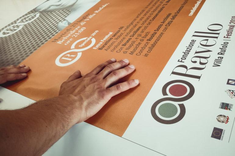 Stampa e allestimento materiale di comunicazione per FONDAZIONE RAVELLO (SA)
