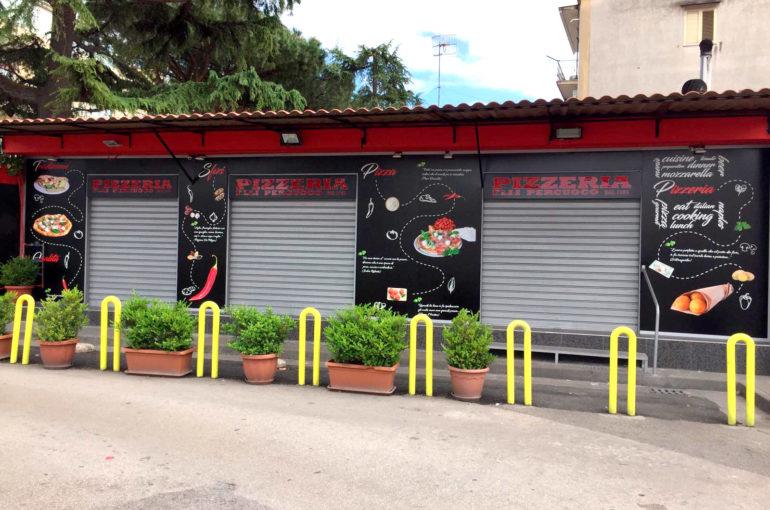 Insegne a portale Pizzeria Percuoco